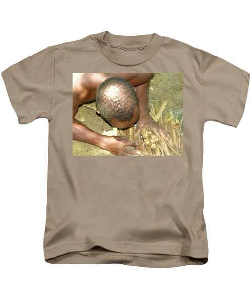 Lamu Island - Man Breathe Life Into A Fire 1 Kids T-Shirt