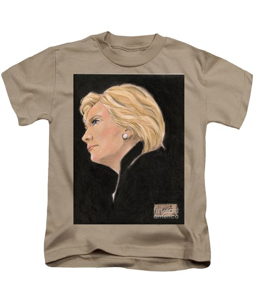 Madame President Kids T-Shirt by P J Lewis