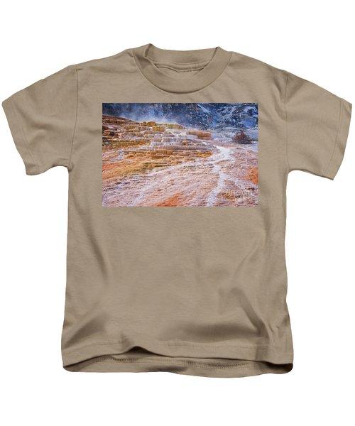 Mammoth Terraces Of Yellowstone Kids T-Shirt