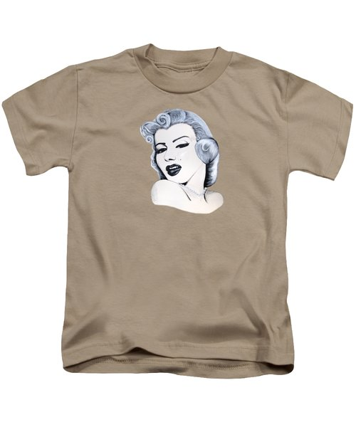 Marilyn Monroe Kids T-Shirt by Ivana Hlavca