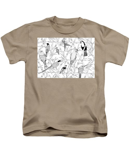 Menagerie Black And White Kids T-Shirt by Jacqueline Colley