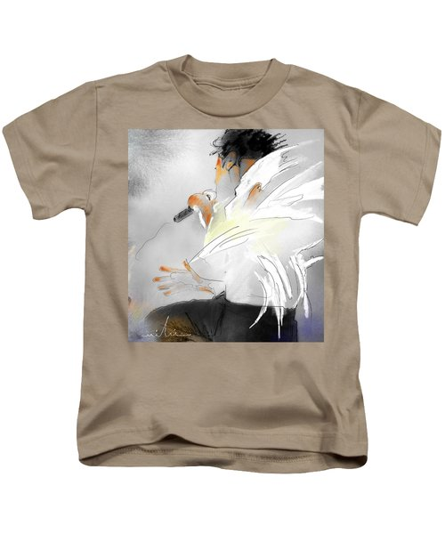 Michael Jackson 08 Kids T-Shirt by Miki De Goodaboom