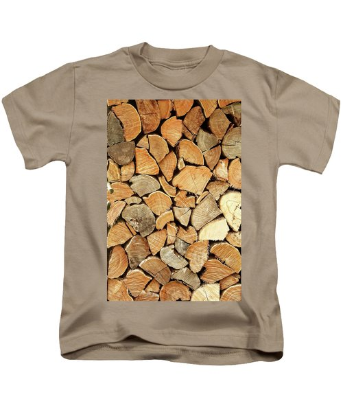 Natural Wood Kids T-Shirt by AugenWerk Susann Serfezi