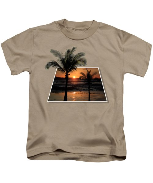 Palm Trees At Sunset Kids T-Shirt