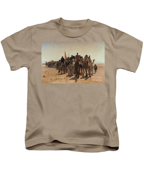 Pilgrims Going To Mecca Kids T-Shirt