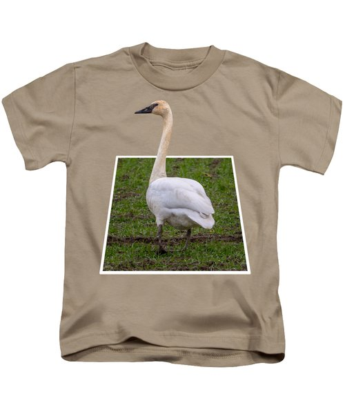 Portrait Of A Swan Out Of Frame Kids T-Shirt