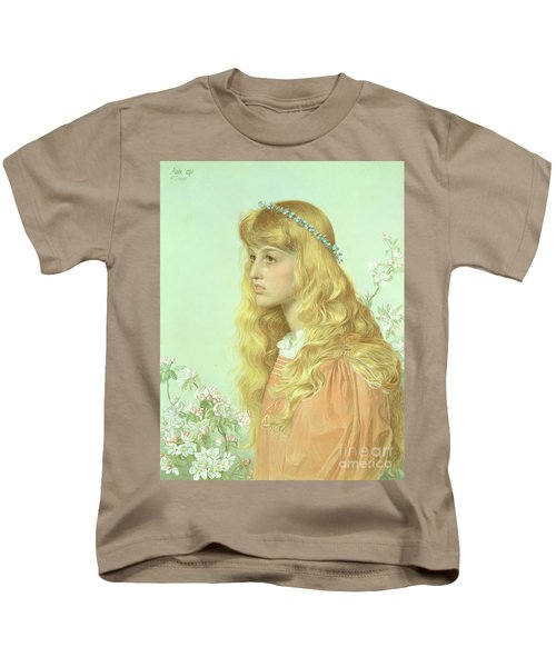 Portrait Of Miss Adele Donaldson, 1897 Kids T-Shirt by Anthony Frederick Augustus Sandys