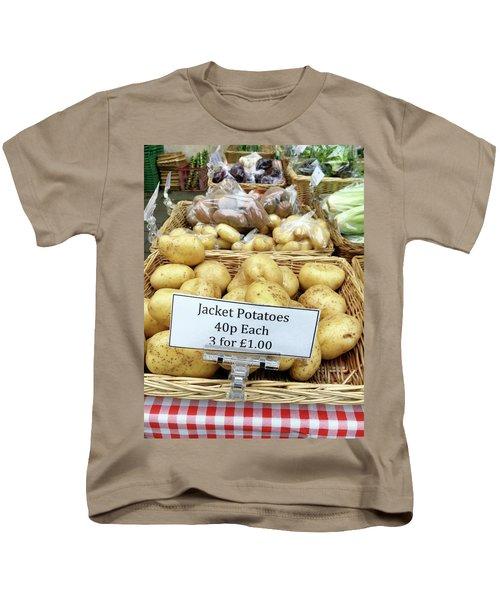 Potatoes At The Market  Kids T-Shirt by Tom Gowanlock