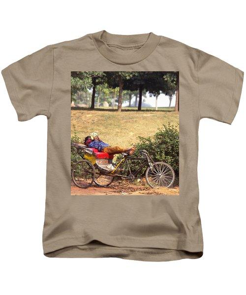 Rickshaw Rider Relaxing Kids T-Shirt