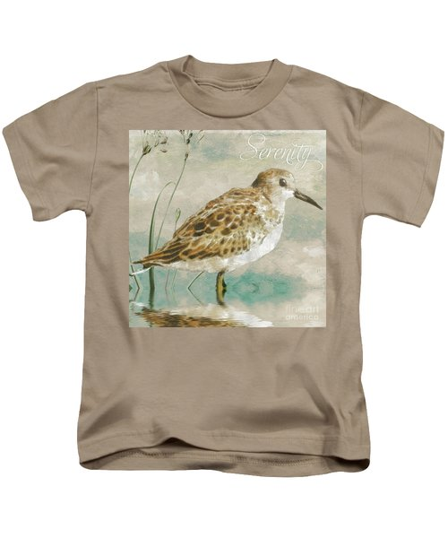 Sandpiper I Kids T-Shirt by Mindy Sommers