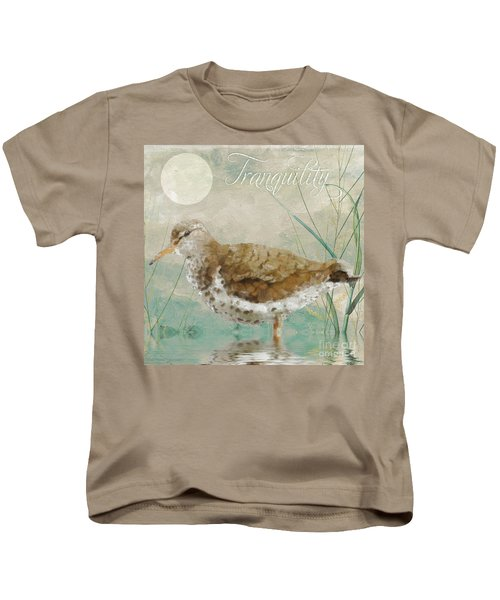 Sandpiper II Kids T-Shirt by Mindy Sommers