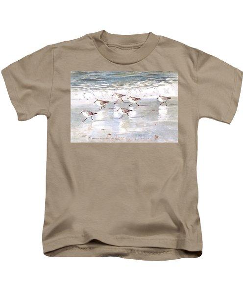 Sandpipers On Siesta Key Kids T-Shirt
