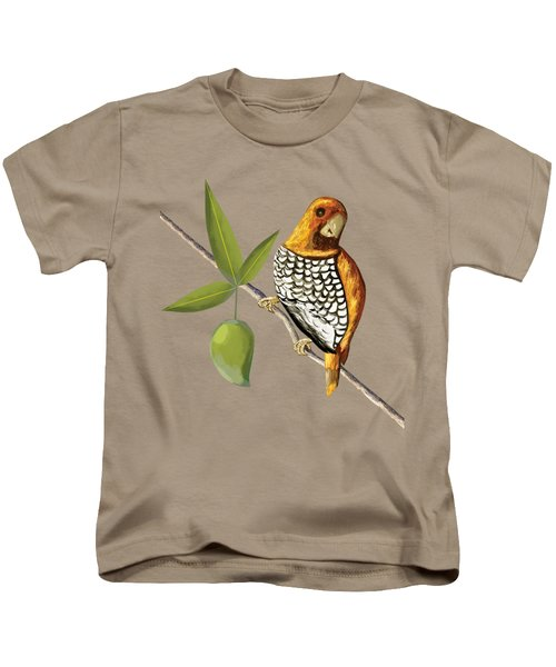 Scaly Breasted Munia D Kids T-Shirt by Thecla Correya