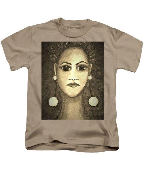 Smoking Woman 1 Kids T-Shirt