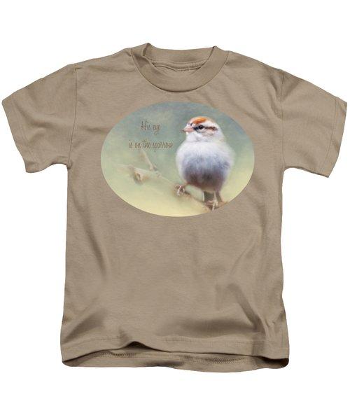 Serendipitous Sparrow - Phrase Kids T-Shirt by Anita Faye