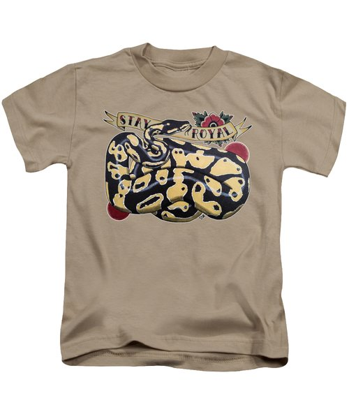 Stay Royal Ball Python Kids T-Shirt by Donovan Winterberg