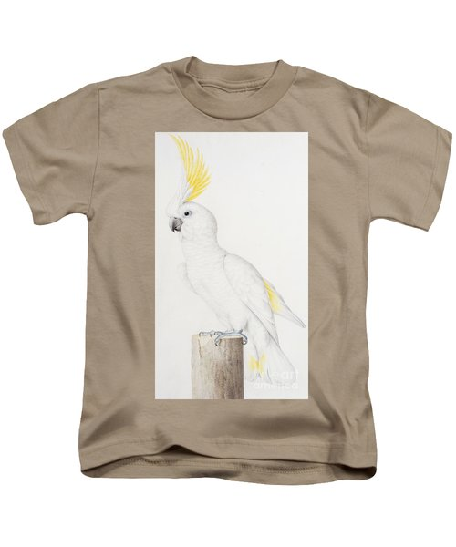 Sulphur Crested Cockatoo Kids T-Shirt by Nicolas Robert
