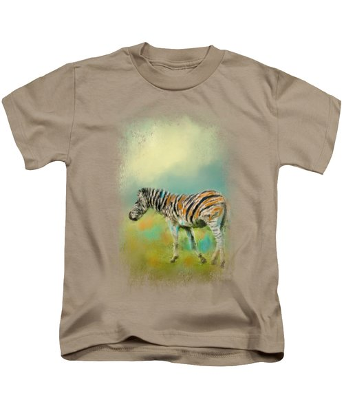 Summer Zebra 2 Kids T-Shirt by Jai Johnson