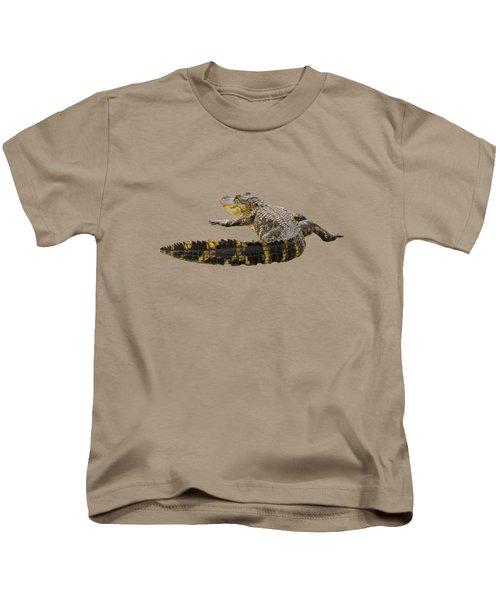 Sunning On The Shore Kids T-Shirt