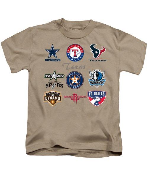 Texas Professional Sport Teams Kids T-Shirt