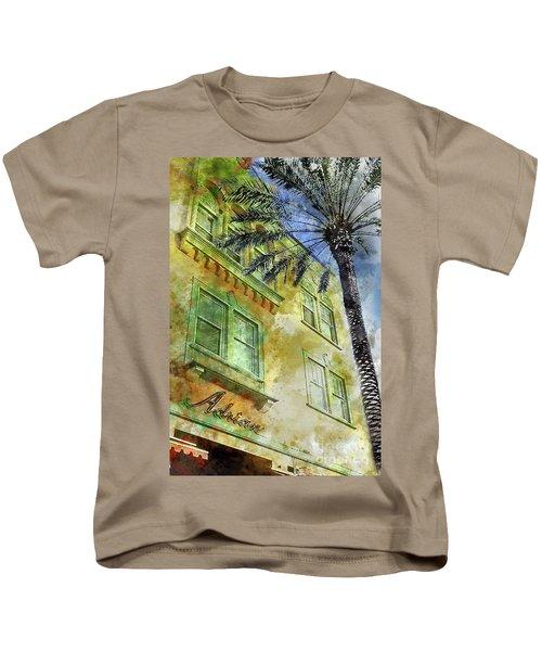 The Adrian Hotel South Beach Kids T-Shirt by Jon Neidert
