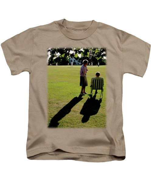 The Cricket Match Kids T-Shirt by Jon Delorme