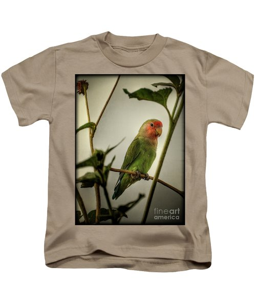 The Lovebird  Kids T-Shirt by Saija  Lehtonen