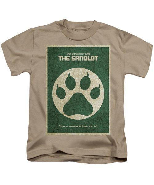 The Sandlot Alternative Minimalist Movie Poster Kids T-Shirt by Ayse Deniz