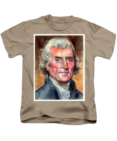 Thomas Jefferson Portrait Kids T-Shirt