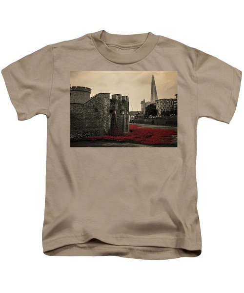 Tower Of London Kids T-Shirt by Martin Newman