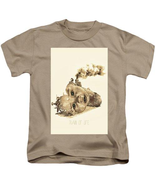 Train Of Life Kids T-Shirt by Mauro Mondin
