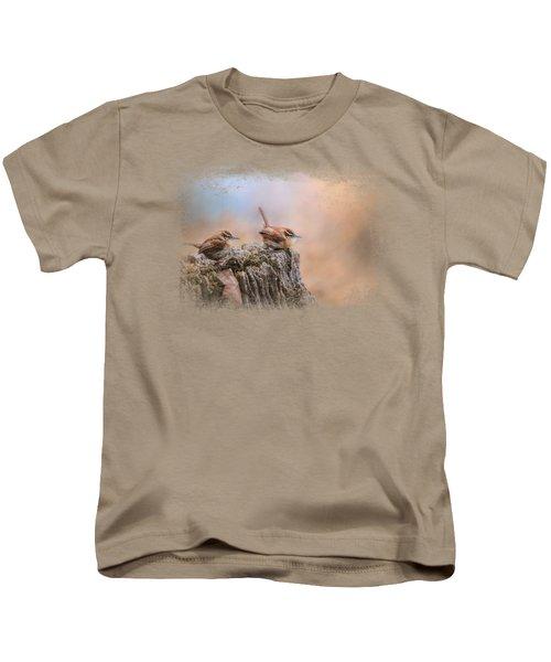 Two Little Wrens Kids T-Shirt