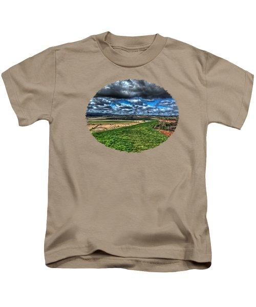 Van Duzer Vineyards View Kids T-Shirt by Thom Zehrfeld