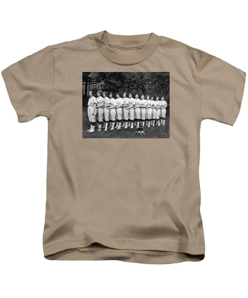 Vintage Photo Of Women's Baseball Team Kids T-Shirt by American School