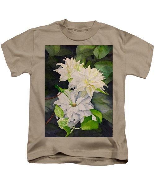 White Clematis Kids T-Shirt