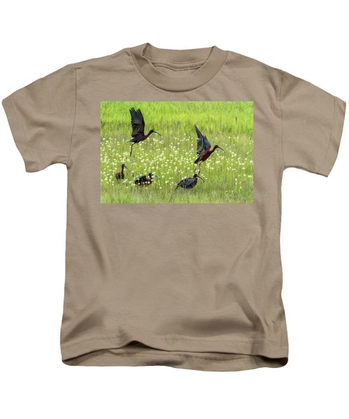 White-faced Ibis Rising, No. 1 Kids T-Shirt