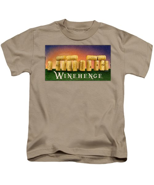 Winehenge Kids T-Shirt by Will Bullas