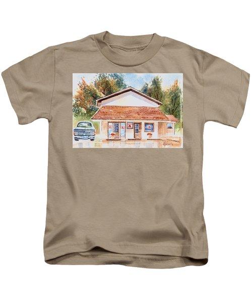Woodcock Insurance In Watercolor  W406 Kids T-Shirt by Kip DeVore