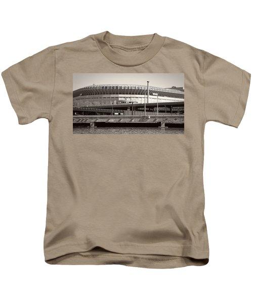 Yankee Stadium    1923  -  2008 Kids T-Shirt by Daniel Hagerman