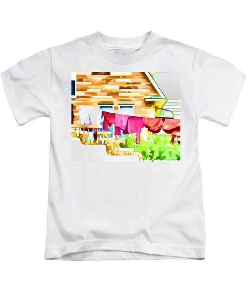 A Summer's Day - Digital Art Kids T-Shirt