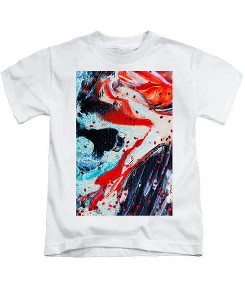 Abstract Original Artwork One Hundred Phoenixes Untitled Number Fifteen Kids T-Shirt