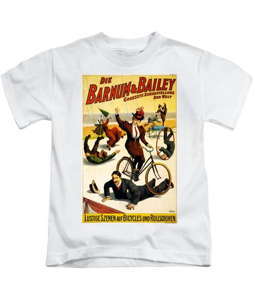 Barnum And Bailey Circus Poster Kids T-Shirt