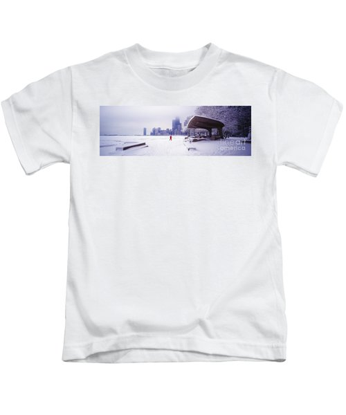 North Ave Beach Chess Palv Chicago Lake Front  Kids T-Shirt