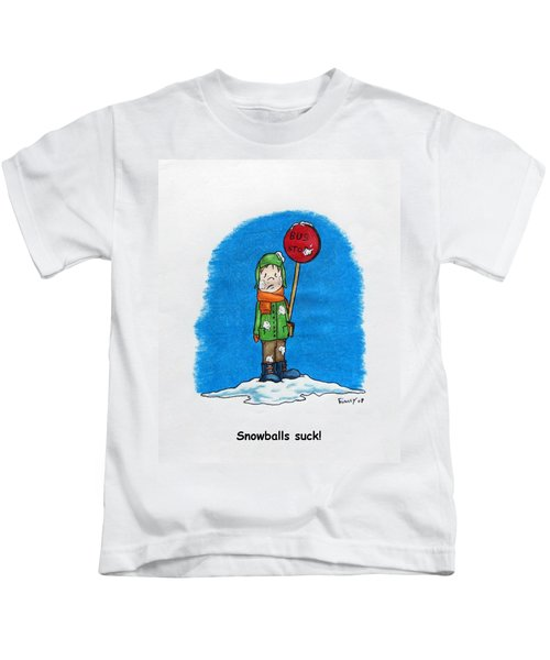 Snowballs Suck Kids T-Shirt