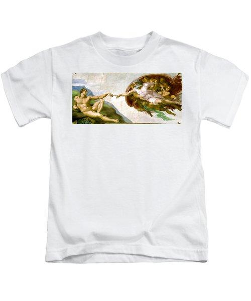 The Creation Of Adam Kids T-Shirt