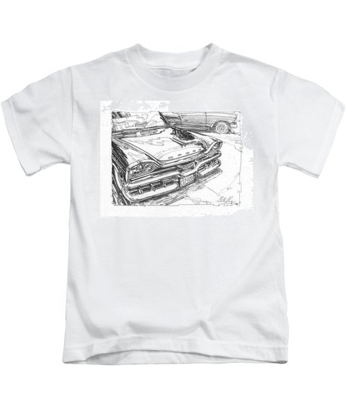 1957 Dodge Royal Lancer Study Kids T-Shirt