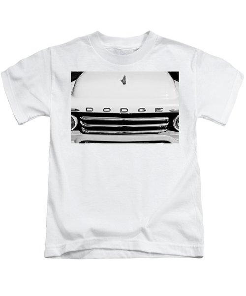 1958 Dodge Sweptside Truck Grille Kids T-Shirt