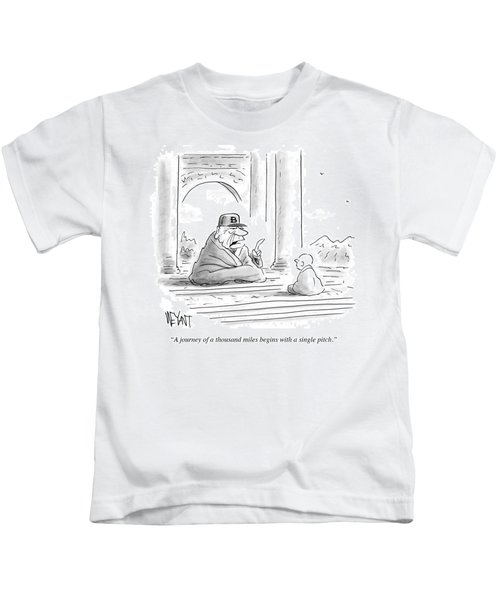 A Journey Of A Thousand Miles Begins Kids T-Shirt