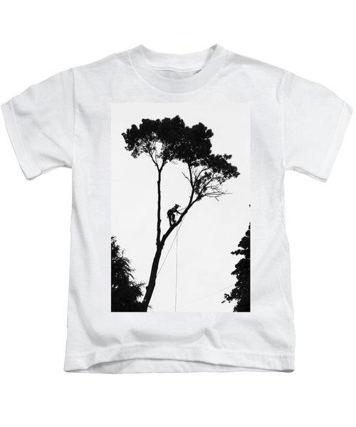 Arborist At Work Kids T-Shirt