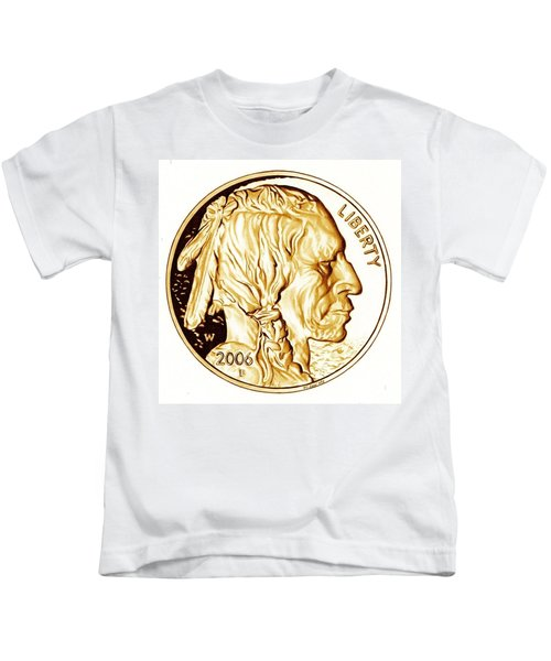 Buffalo Nickel Kids T-Shirt